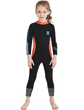 cheap Sports & Outdoors-Girls' Full Wetsuit 2.5mm Spandex SCR Neoprene Diving Suit Sun Shirt UV Resistant Anatomic Design Stretchy Long Sleeve Back Zip Patchwork Autumn / Fall Spring Summer / Winter / UPF50+