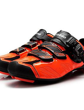 cheap Sports & Outdoors-Tiebao® Road Bike Shoes Carbon Fiber Anti-Slip Cycling Black / Orange Men's Cycling Shoes / Hook and Loop