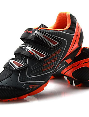 cheap Sports & Outdoors-Tiebao® Mountain Bike Shoes Carbon Fiber Anti-Slip Cycling Black / Orange Men's Cycling Shoes / Hook and Loop