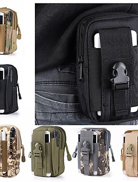 cheap Sports & Outdoors-1.5 L Fanny Pack Hiking Waist Bag Military Tactical Backpack Multifunctional Lightweight Wear Resistance Outdoor Camping Military / Tactical Oxford Cloth Army Green Camouflage Khaki
