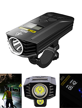 cheap Sports & Outdoors-Dual LED Bike Light Front Bike Light Headlight Bicycle Cycling Waterproof Multiple Modes Super Brightest Remote Control / RC 1800 lm Rechargeable USB Cycling / Bike - Nitecore