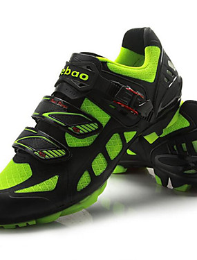 cheap Sports & Outdoors-Tiebao® Mountain Bike Shoes Carbon Fiber Anti-Slip Cycling Green / Black Men's Cycling Shoes / Breathable Mesh / Hook and Loop