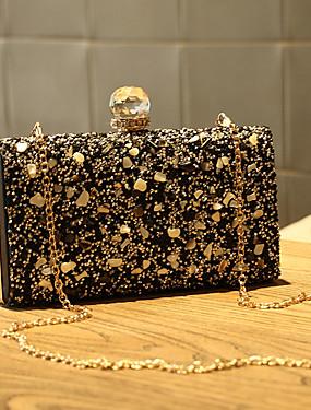 preiswerte Biszu19-Damen Kristall Verzierung Abendtasche Strass Kristall Abendtaschen Gold / Schwarz / Silber