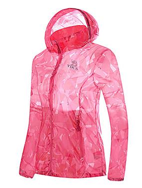 cheap Sports & Outdoors-Shamocamel® Women's Hiking Raincoat Hiking Skin Jacket Outdoor Camo Lightweight Sunscreen UV Resistant Rain Waterproof Hoodie Top Waterproof Hunting Camping / Hiking / Caving Travel Orange / Green