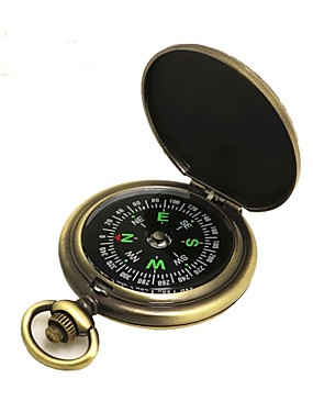 cheap Sports & Outdoors-Compasses Directional / Gold-Plated Camping / Hiking / Caving / Trekking Metalic / ABS cm pcs