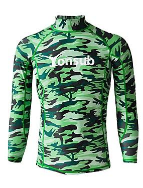 cheap Sports & Outdoors-YON SUB Men's Rash Guard Sun Shirt Swim Shirt Quick Dry UPF50+ Long Sleeve Surfing Beach Watersports Camo / Camouflage Summer / Stretchy