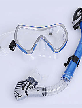 cheap Sports & Outdoors-WAVE Snorkeling Set Diving Package - Diving Mask Snorkel - Antifog Explosion-Proof Soft Swimming Diving Snorkeling Silicone PVC (Polyvinylchlorid)  For  Adults / Dry Top