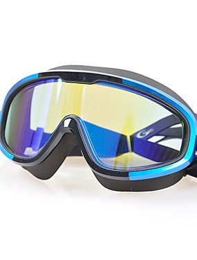 cheap Sports & Outdoors-Swimming Goggles Portable Anti-Fog Professional For Adults' Polycarbonate Polycarbonate Blacks Blue