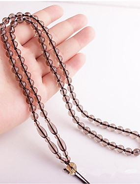 preiswerte Schnur & Draht-Cord und Draht schnurr, Perlen Schwarz / Braun 1 pcs 33 cm Für