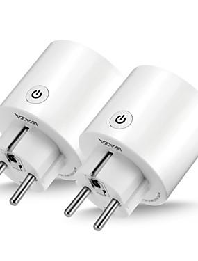 preiswerte Tuya App-waza smart plug (eu) mini-outlet kompatibel mit amazon alexa und google assistant, wifi-fähige fernbedienung smart socket mit timer-funktion, kein hub erforderlich (2er-pack)