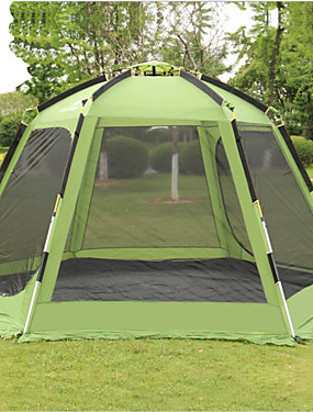 cheap Sports & Outdoors-Shamocamel® 7 person Screen Tent Screen House Outdoor Windproof Rain Waterproof Double Layered Automatic Dome Camping Tent >3000 mm for Camping / Hiking / Caving Terylene Aluminium alloy 368*368*190