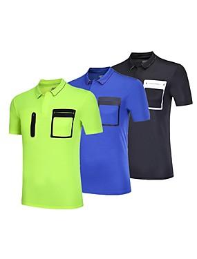 cheap Sports & Outdoors-BARBOK Men's Short Sleeve Elastane Lightweight Quick Dry Breathability Yoga Gym Workout Exercise & Fitness Multisport Sportswear Tee T-shirt Sweatshirt Top Black Green Blue Activewear