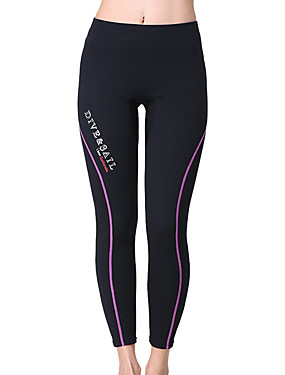 cheap Sports & Outdoors-Dive&Sail Women's Wetsuit Pants 1.5mm Elastane Neoprene Bottoms Waterproof Thermal / Warm UV Sun Protection Swimming Diving Surfing Solid Colored / Breathable / Quick Dry / Breathable / Quick Dry