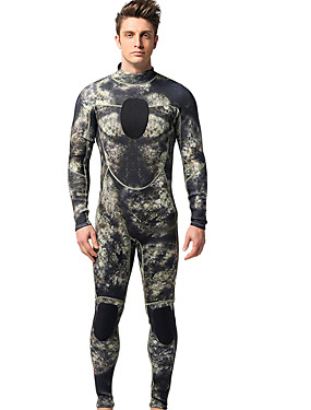 cheap Sports & Outdoors-MYLEDI Men's Full Wetsuit 3mm Neoprene Diving Suit Thermal / Warm Long Sleeve Back Zip - Swimming Diving Patchwork Spring Summer Fall / Winter