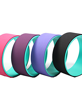 cheap Sports & Outdoors-Yoga Wheel Prop Comfortable Strongest TPE ABS Inversions & Backbends Back Stretcher Increase Precision & Flexibility Improving Backbends Stretching For Pilates Exercise & Fitness Dharma Yoga Black