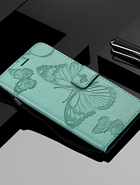 cheap Huawei Case-Case For Huawei Huawei P20 / Huawei P20 Pro / Huawei P20 lite Wallet / Card Holder / with Stand Full Body Cases Butterfly Hard PU Leather / P10 Lite