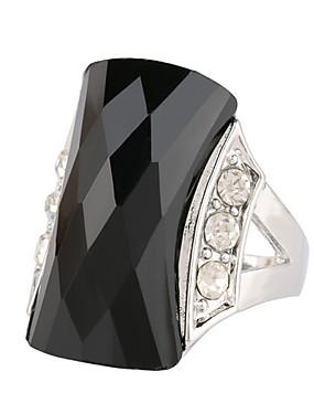 cheap Fashion Rings-Women's Statement Ring Ring Onyx 1pc Black Green Plastics Steel Stainless Alloy Round irregular Ladies Stylish Aristocrat Lolita Ceremony Birthday Jewelry Hollow Precious Hope Cool