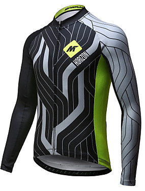 cheap Sports & Outdoors-Mysenlan Men's Long Sleeve Cycling Jersey Green / Black Bike Jersey Top Breathable Quick Dry Sports Polyester Mountain Bike MTB Road Bike Cycling Clothing Apparel / Expert / Expert / Italian Ink