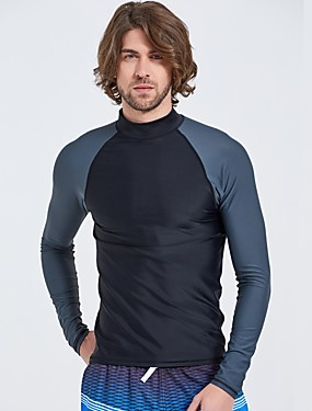 cheap Sports & Outdoors-Men's Spandex Anatomic Design Long Sleeve Surfing Windsurfing Wakeskating Solid Colored Summer / Micro-elastic