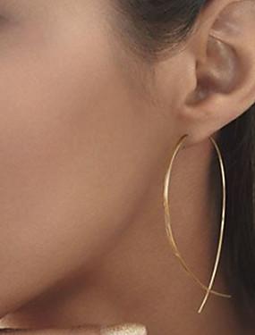 preiswerte Unter 9.9-Damen Ohrstecker Billig damas Einfach Europäisch Simple Style Modisch Elegant Ohrringe Schmuck Schwarz / Silber / Golden Für Party Alltag Normal