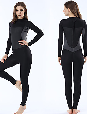 cheap Sports & Outdoors-MYLEDI Women's Full Wetsuit 2mm SCR Neoprene Diving Suit Anatomic Design Stretchy Long Sleeve Back Zip