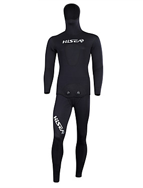 cheap Sports & Outdoors-HISEA® Men's Full Wetsuit 5mm CR Neoprene Diving Suit Thermal / Warm Waterproof UV Sun Protection Long Sleeve Back Zip - Diving Snorkeling Scuba Floral Botanical Fashion Spring Summer Winter