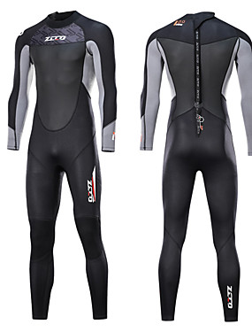 cheap Sports & Outdoors-ZCCO Men's Full Wetsuit 3mm SCR Neoprene Diving Suit Thermal / Warm Quick Dry Anatomic Design Long Sleeve Back Zip - Swimming Diving Water Sports Spring &  Fall Summer / Stretchy / Stretchy