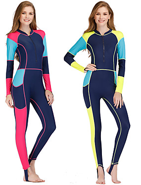 cheap Sports & Outdoors-Women's Rash Guard Dive Skin Suit Spandex Swimwear Anatomic Design Full Body Front Zip - Surfing Windsurfing Wakeskating Autumn / Fall Spring Summer / Micro-elastic