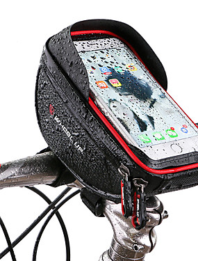 cheap Sports & Outdoors-Wheel up Cell Phone Bag Bike Handlebar Bag 6 inch Touch Screen Reflective Cycling for Cycling iPhone X iPhone XR Red Black Mountain Bike / MTB Road Bike / iPhone XS / iPhone XS Max