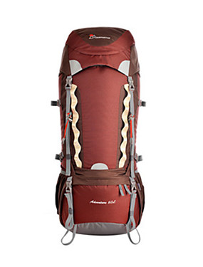 cheap Sports & Outdoors-70 L Rucksack Rain Waterproof Ultra Light (UL) Professional Wear Resistance Outdoor Hiking Camping Traveling 100g / m2 Polyester Knit Stretch Green Blue Burgundy