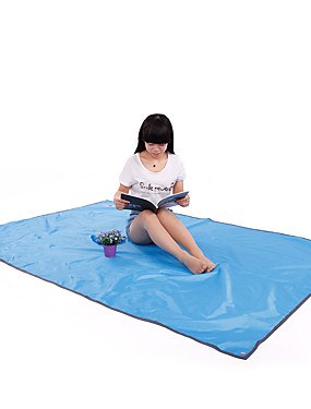 cheap Sports & Outdoors-BSwolf Picnic Blanket Hammock Rain Fly Outdoor Camping Waterproof Portable Lightweight Oxford Cloth 300*220 cm Fishing Beach Camping / Hiking / Caving for 5 - 7 person All Seasons Blue Grey