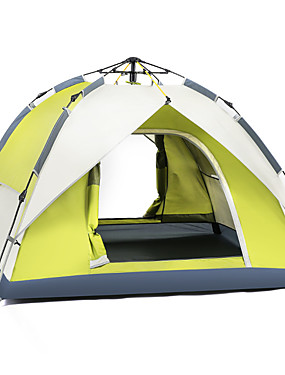 cheap Sports & Outdoors-BSwolf 2 person Automatic Tent Outdoor Windproof Rain Waterproof Breathability Double Layered Automatic Camping Tent 2000-3000 mm for Fishing Beach Camping / Hiking / Caving Oxford Cloth Waterproof