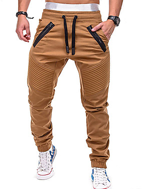 cheap Sports & Outdoors-Men's Jogger Pants Joggers Running Pants Track Pants Sports Pants Athletic Pants / Trousers Sweatpants Athleisure Wear Beam Foot Drawstring Sport Gym Workout Running Leisure Sports Thermal / Warm