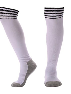 cheap Team Sports-Teen Football Socks Athletic Sports Socks Soccer Socks Cotton Boys' Girls' Stripes Compression Socks Long Socks Running Basketball Baseball Breathable Sweat-wicking Winter Sports Outdoor 1 Pair