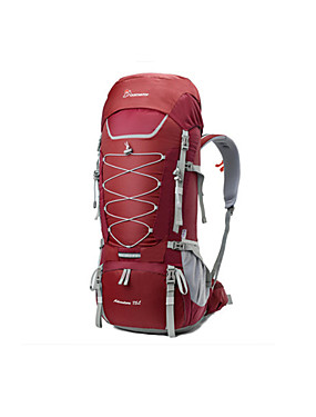 cheap Sports & Outdoors-Mountaintop® 80 L Rucksack Breathable Rain Waterproof Ultra Light (UL) Wear Resistance Outdoor Hiking Camping Downhill 100g / m2 Polyester Knit Stretch Red Blue Grey