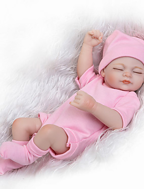 cheap Toys & Hobbies-Reborn Doll Baby Girl 10 inch Silicone - Kids / Teen Kid's Unisex / Girls' Toy Gift