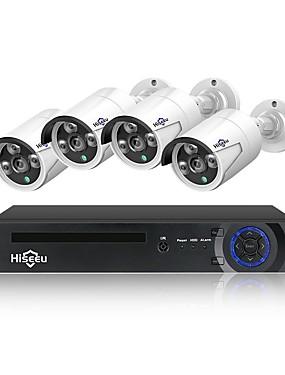 preiswerte Hiseeu-hiseeu 4ch 1080 p 48 v poe nvr kit cctv-system 2mp ip66 ip-kamera wasserdichte p2p hause sicherheit überwachung kit