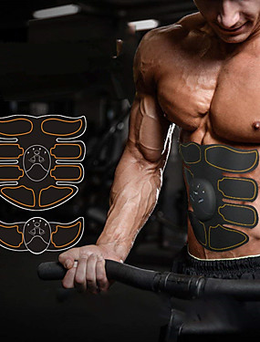 cheap Sports & Outdoors-Abs Stimulator Abdominal Toning Belt EMS Abs Trainer 6 pcs Sports Gym Workout Exercise & Fitness Bodybuilding Smart Electronic Muscle Toner Muscle Toning Tummy Fat Burner Ultimate Training For Leg