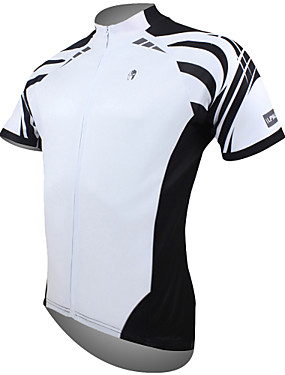 cheap Sports & Outdoors-ILPALADINO Men's Short Sleeve Cycling Jersey Polyester White Yellow Red Bike Jersey Top Mountain Bike MTB Road Bike Cycling Breathable Quick Dry Ultraviolet Resistant Sports Clothing Apparel