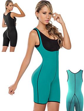 cheap Sports & Outdoors-Sweat Waist Trainer Corset Sauna Suit Neoprene Stretchy Tummy Fat Burner Calories Burned Exercise & Fitness Bodybuilding For Women Waist & Back Leg Abdomen