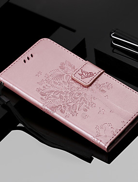 cheap Other Phone Case-Case For Nokia Nokia 9 PureView / Nokia 7.1 / Nokia 4.2 Wallet / Card Holder / with Stand Full Body Cases Butterfly / Tree Hard PU Leather