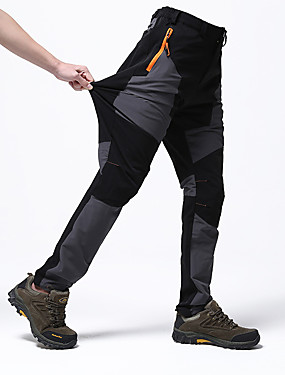 cheap Sports & Outdoors-Men's Hiking Pants Patchwork Summer Outdoor Waterproof Windproof Breathable Quick Dry Spandex Pants / Trousers Bottoms Camping / Hiking Hunting Fishing Green / Black Army Green Grey L XL XXL XXXL 4XL