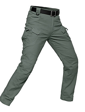 cheap Sports & Outdoors-Men's Hiking Pants Hiking Cargo Pants Tactical Pants Outdoor Breathable Rain Waterproof Stretchy Wear Resistance Pants / Trousers Bottoms Hiking Climbing Outdoor Exercise Black Dark Green Army Green