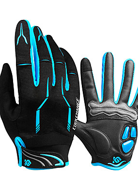 cheap Sports & Outdoors-CoolChange Winter Bike Gloves / Cycling Gloves Mountain Bike Gloves Mountain Bike MTB Thermal / Warm Breathable Anti-Slip Sweat-wicking Full Finger Gloves Sports Gloves Silicone Gel Terry Cloth Black