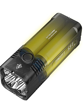 cheap Sports & Outdoors-Nitecore C2 Handheld Flashlights / Torch 6500 lm LED LED 4 Emitters with Adapter Cool Camping / Hiking / Caving Everyday Use Hunting
