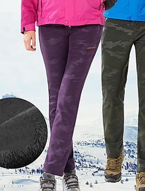 お買い得  スポーツ&アウトドア-女性用 スキーパンツ 保温 防水 防風 スキー キャンピング&ハイキング スノーボード POLY エラステイン パンツ スキーウェア / 冬 / カモフラージュ