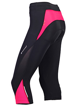 cheap Sports & Outdoors-Nuckily Women's Cycling 3/4 Tights Bike Pants Bottoms Breathable Sports Polyester Red / black / Bule / Black / Black+Purple Mountain Bike MTB Road Bike Cycling Clothing Apparel Advanced Relaxed Fit