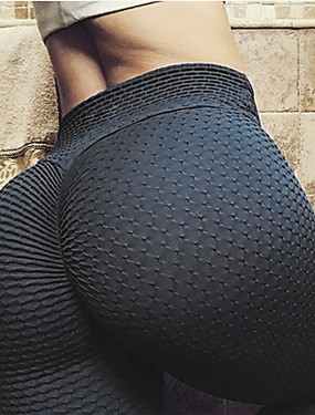cheap Sports & Outdoors-Women's High Waist Leggings Tiktok Scrunch Butt Ruched Butt Lifting Yoga Pants Tummy Control Butt Lift White Black Yellow Spandex Fitness Gym Workout Running Sports Activewear Stretchy Skinny Slim