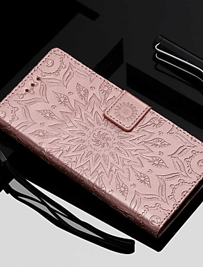 cheap Other Phone Case-Case For Motorola MOTO G6 / Moto G6 Plus / Moto E5 Plus Wallet / Card Holder / with Stand Full Body Cases Flower Hard PU Leather