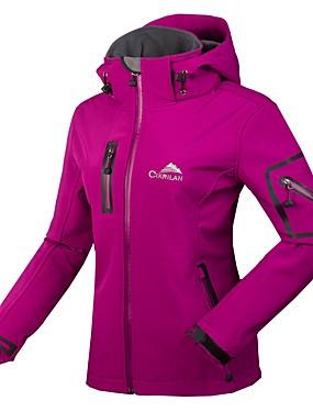 cheap Sports & Outdoors-Women's Hiking Softshell Jacket Hiking Jacket Winter Outdoor Waterproof Windproof Breathable Rain Waterproof Jacket Winter Jacket Top Fleece Softshell Single Slider Ski / Snowboard Camping / Hiking